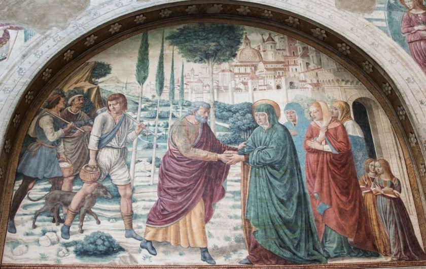 Fotografia di un affresco del museo Benozzo Gozzoli di Castelfiorentino